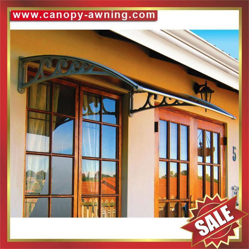 outdoor window door diy pc polylcarbonate rain sunshade awning canopy shelter 5