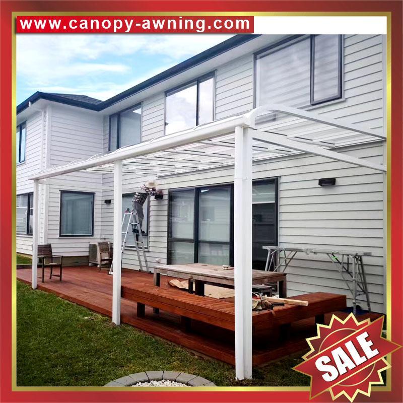 別墅鋁合金鋁制PC聚碳酸酯耐力板門窗雨棚雨陽篷遮陽蓬 3