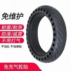 8.5寸x50熱銷黑色橡膠蜂窩代步車不打氣防扎刺防爆電動車輪胎