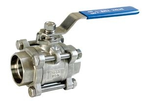 3PC BALL VALVE stainless steel  WCB 2