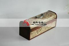 高档葡萄酒皮盒