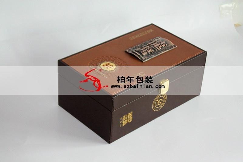 高档葡萄酒皮盒 3