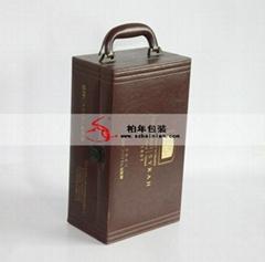 高檔紅酒皮盒