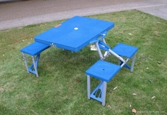 ABS plastic folding picnic table