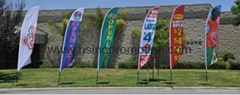Advertising Flying Beach Flag with Fiberglass Pole