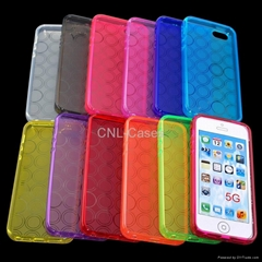 Circle Pattern TPU case for Iphone 5