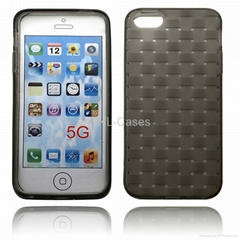 TPU protection case for Iphone 5 with mat lines