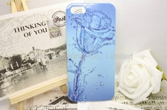 IML hard case with crystal mobile phone protection case for iphone 5
