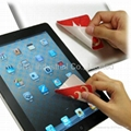 laptop microfiber screen cleaner, customized shape,with logo printing 1