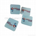 promotion gift microfiber screen cleaner sticker, customized shape,logo printing