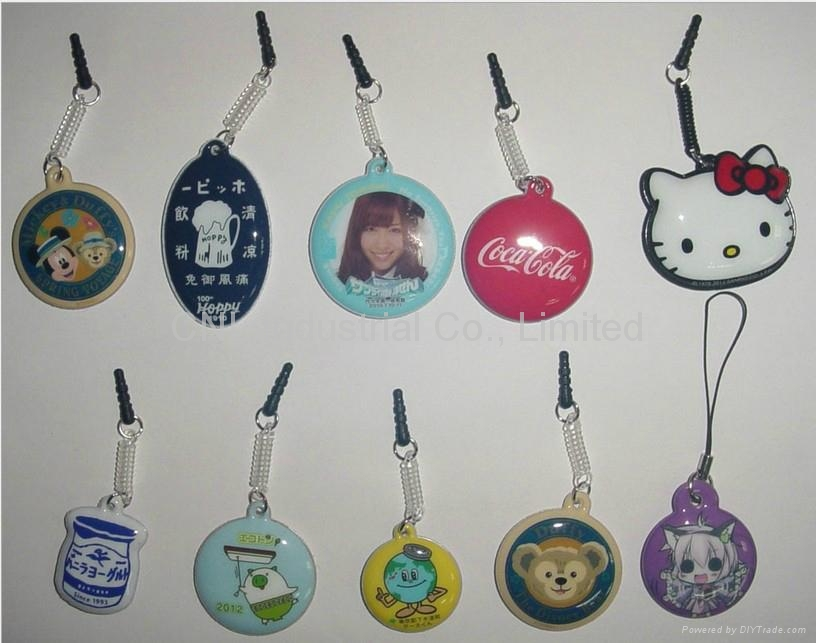 PVC cellphone screen cleaner pendant,customized printing and shape available 1
