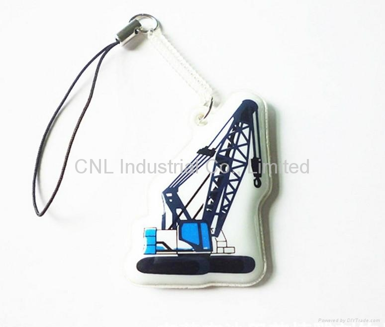 PVC cellphone screen cleaner pendant,customized printing and shape available 4