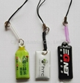 PVC cellphone screen cleaner pendant,customized printing and shape available