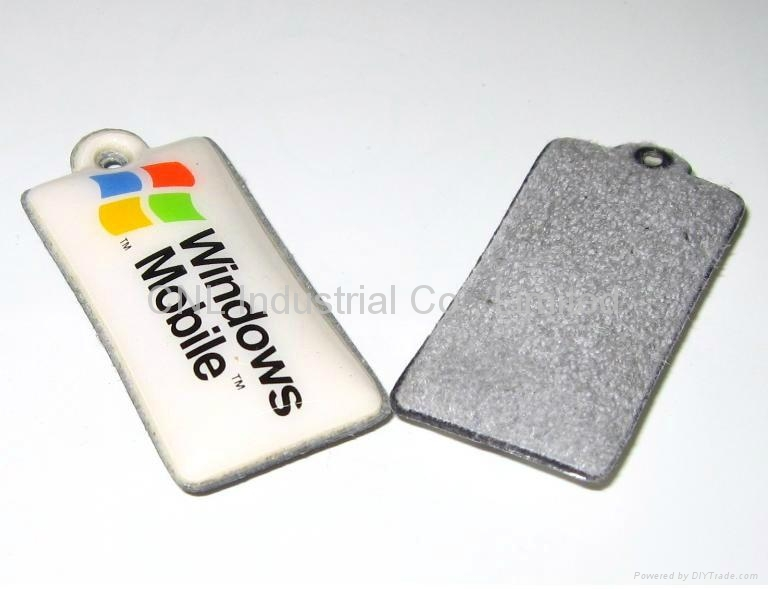 PVC cellphone screen wiper pendant,customized printing and shape available 2