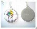 PVC cellphone screen wiper pendant,customized printing and shape available