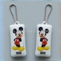 PVC mobile screen wiper keychain gift