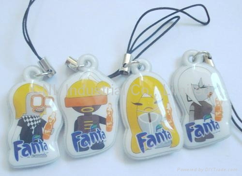 PVC mobile screen cleaner key ring gift,customized printing and shape available 3