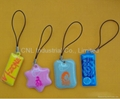 PVC mobile screen cleaner key ring gift,customized printing and shape available 5
