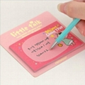 promotion gift sticky memo note with printing, customized shape available
