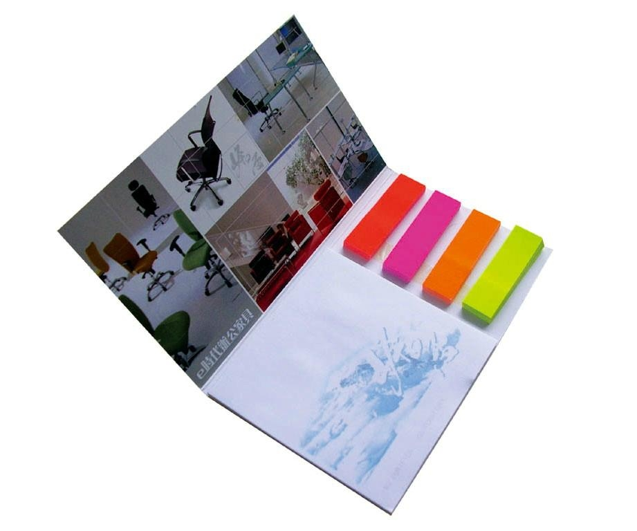 promotion gift sticky memo note with index, customized shape available
