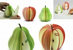 promotion gift fruit shape sticky memo note,sticky fruit pad,sticky note this