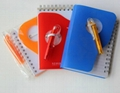 PP cover spiral binding notebook,diary book, agenda notebook, with logo printing 1