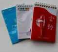 PP cover spiral binding notebook,diary book, agenda notebook, with logo printing