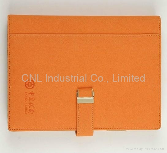 PU leather cover notebook,diary book, agenda notebook, with logo printing 1