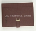 PU leather cover notebook,diary book, agenda notebook, with logo printing 2