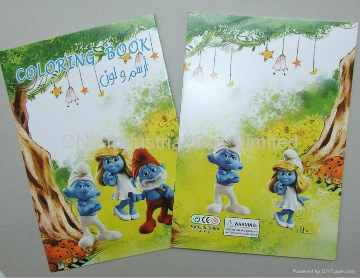 Coloring Book Set With Colored Pencil Mini For Kids 1