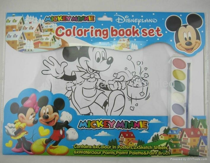 Printing school education coloring book set, coloring set with customized print 1