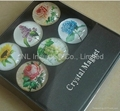 crystal fridge magnet promotion gift with customized printing for refrigerator