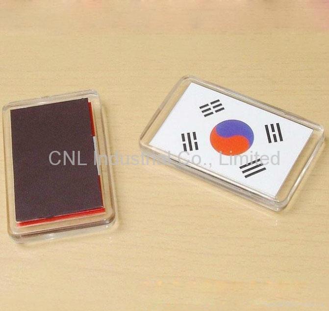 crystal fridge magnet tourist convenir with customized printing for refrigerator 2