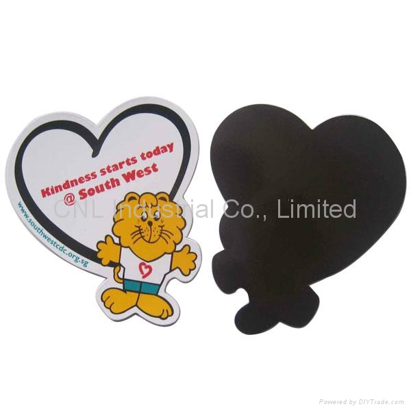 Paper fridge magnetic sticker for refrigerator, any shape available 1