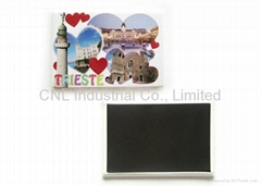 Tourist souvenir paper fridge magnet sticker, any shape and logo available