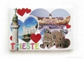 Tourist souvenir paper fridge magnet sticker, any shape and logo available