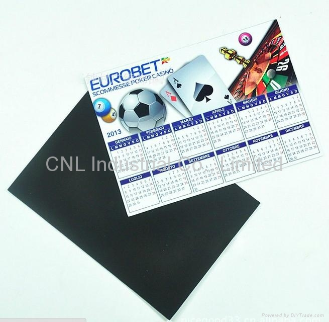 Promotion home decoration magnetic calendar gift, with customized printing 1