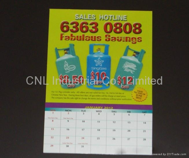 Promotion home decoration magnetic calendar gift, with customized printing 2