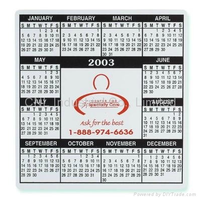 Promotion home decoration magnetic calendar gift, with customized printing 3