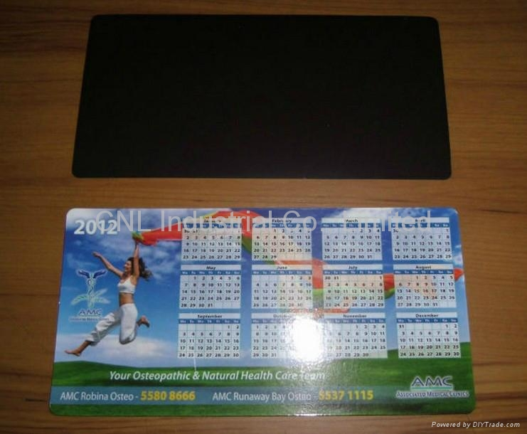 Promotion home decoration magnetic calendar gift, with customized printing 5
