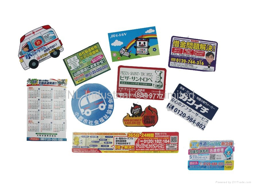 New customized paper magnetic fridge calendar, any shape available 3