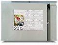 New customized paper magnetic fridge calendar, any shape available