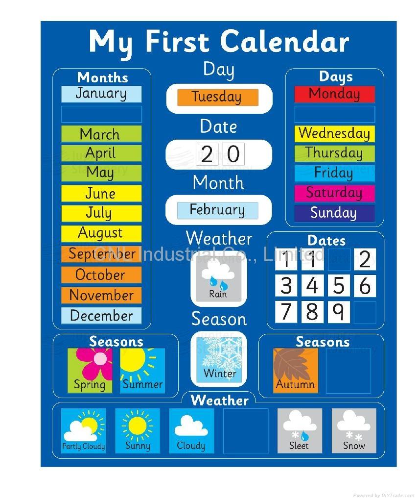 New customized paper calendar fridge magnet, OEM welcome 1