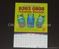 New customized paper calendar fridge magnet, OEM welcome 4