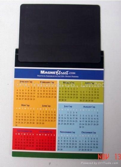 New customized paper calendar fridge magnet, OEM welcome 3