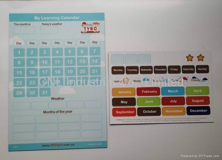 Customized fridge magnetic learning fridge calendar, good for promotion gift 1