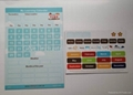 Customized fridge magnetic learning fridge calendar, good for promotion gift