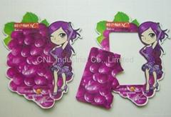 Funny printing magnetic fridge photo frame, customized design available