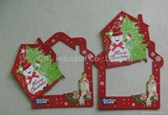 Customize logo printing Xmas gift beautiful magnetic photo frame