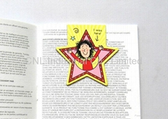 Promotional handmade paper magnetic bookmarks cartoon printing